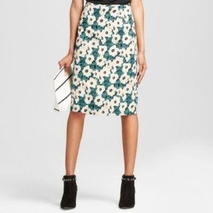 Who What Wear Green Floral Skirt Size 2